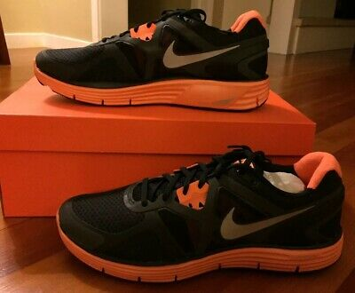 newest 1b05e 0fd05 NIKE LUNARGLIDE+ 3 Size 11 Reflective Black Orange (512932-008)
