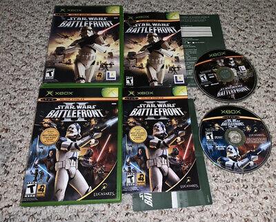 Star Wars: Battlefront I & II 1 2 Microsoft Xbox Lot Bundle COMPLETE Tested