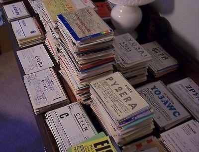 VINTAGE  HAM RADIO QSL CARDS Lot 20 WORLD WIDE 1970s - 2000s