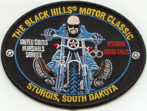 STURGIS SOUTH DAKOTA SD US MARSHAL We Make House Calls MOTORCYCLE POLICE PATCH