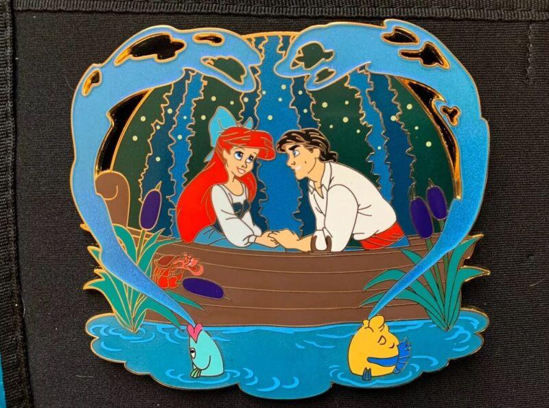 Ariel The Little Mermaid Fantasy Pin - Ariel & Eric Kiss The Girl Scene