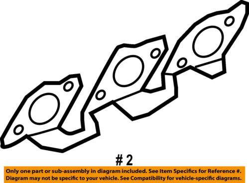 Ford Oem Exhaust Manifold Gasket Xr3z9448aa 685984888495