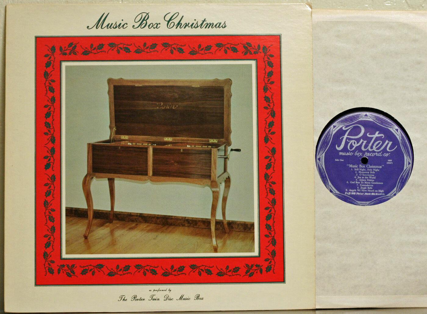 LP Music Box Christmas - Porter Twin Disc Music Box b3  - $7.50