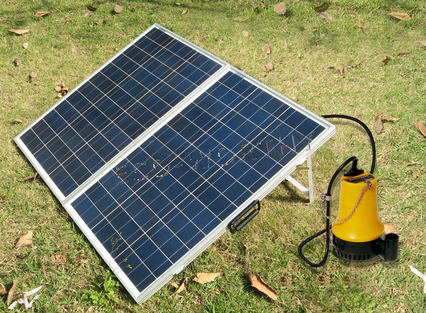 Solar Pump System Kit w 120W Folding Solar Panel 12V Water Pump for ...