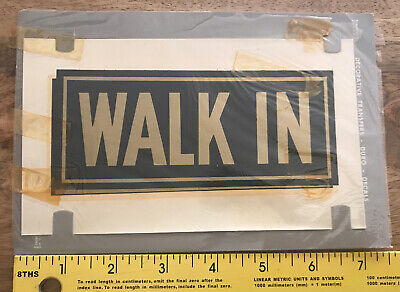 """Vintage Duro Decal Walk In 6"""" Black & Gold 30's 40's 50's"""