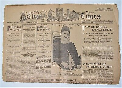 Old Los Angeles Times  Newspaper Dec 19 1914 1st Section 1