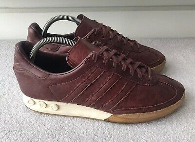 Adidas Mens Kegler Super 2014 Leather Trainers Redwood Size UK 8
