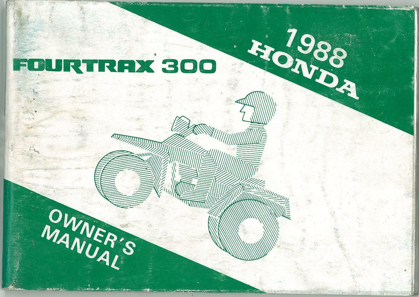 honda fourtrax 300 manual pdf