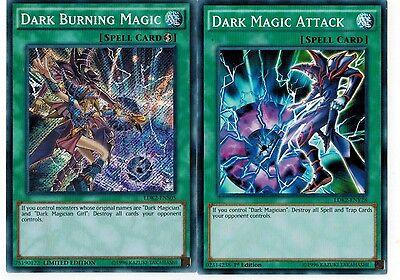 Dark Burning Magic Secret  + Dark Magic Attack 1st YUGIOH LDK2-ENY28 Spell SET