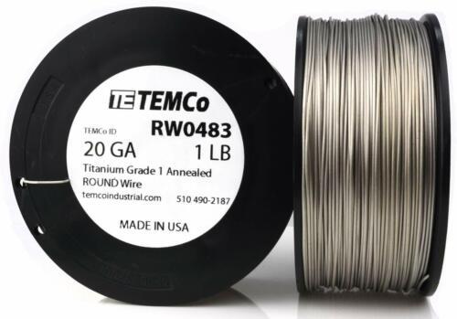 5 feet Grade 1 Surgical Pure Titanium wire 20 g 0.8 mm. US Manufacturer & Seller