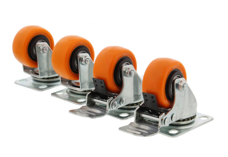 """Clearance- ABN Swivel Plate Caster Wheels 2"""" 4 Locking Casters for Furniture"""