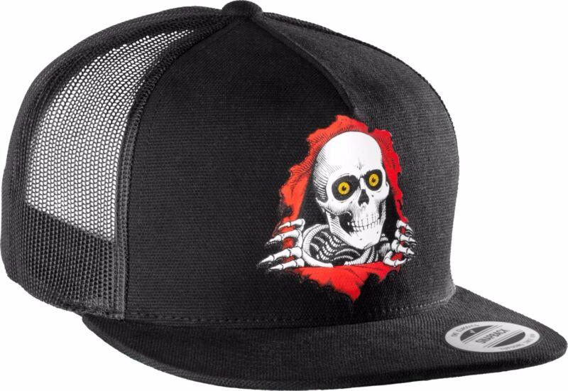 Powell Peralta RIPPER Snapback Skateboard Trucker Hat BLACK