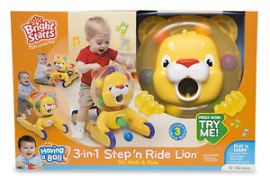 Bright Starts - Having A Ball 3-in-1 Step & Ride Lion