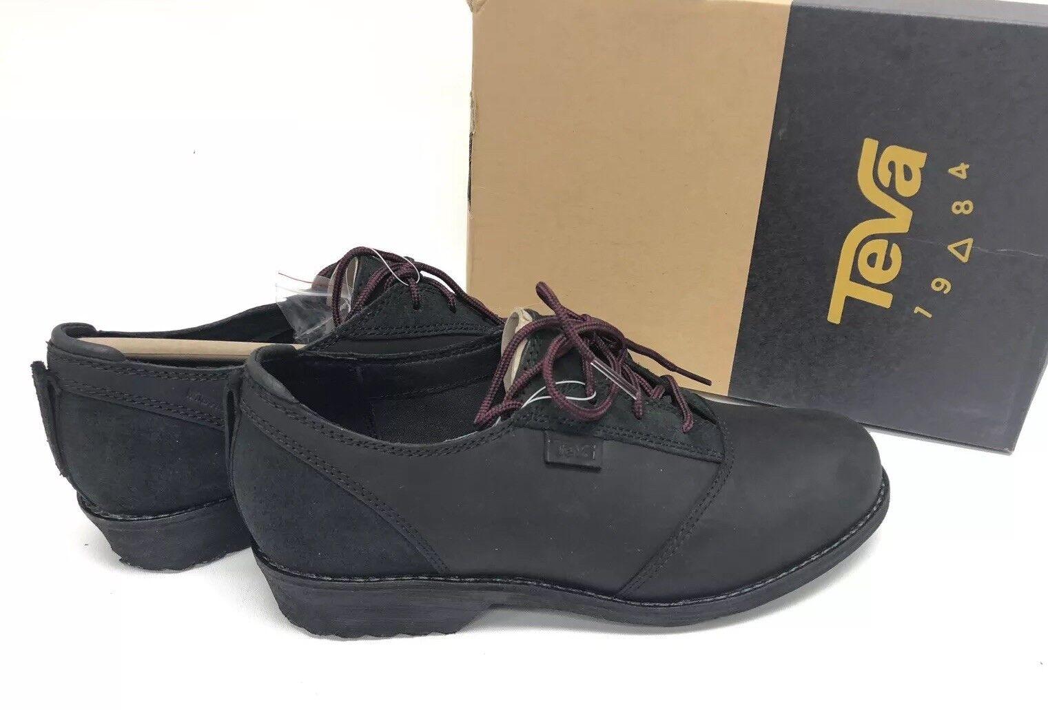 Teva Women's De La Vina Dos Shoe Black Lace Up 1019810 Oxford Waterproof sizes