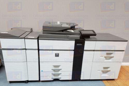 Sharp Mx-m1054 Mono Laser Production Printer Copier Scanner Finisher 105ppm 1204