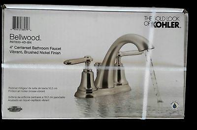 Kohler Bellwood 4  Centerset Bathroom Faucet  Brushed Nickel Finish R97833 4D Bn
