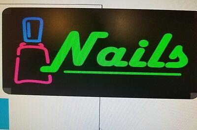 Nails Led Back Lit Sign Box