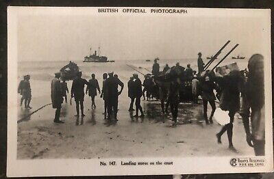 Mint Egypt Real Picture Postcard RPPC Landing Stores On The Coast British (The Landing Stores)