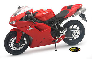 Ducati 1198 New Ray Toys Street Bike 1:12 Scale Motorcycle and Free Sticker