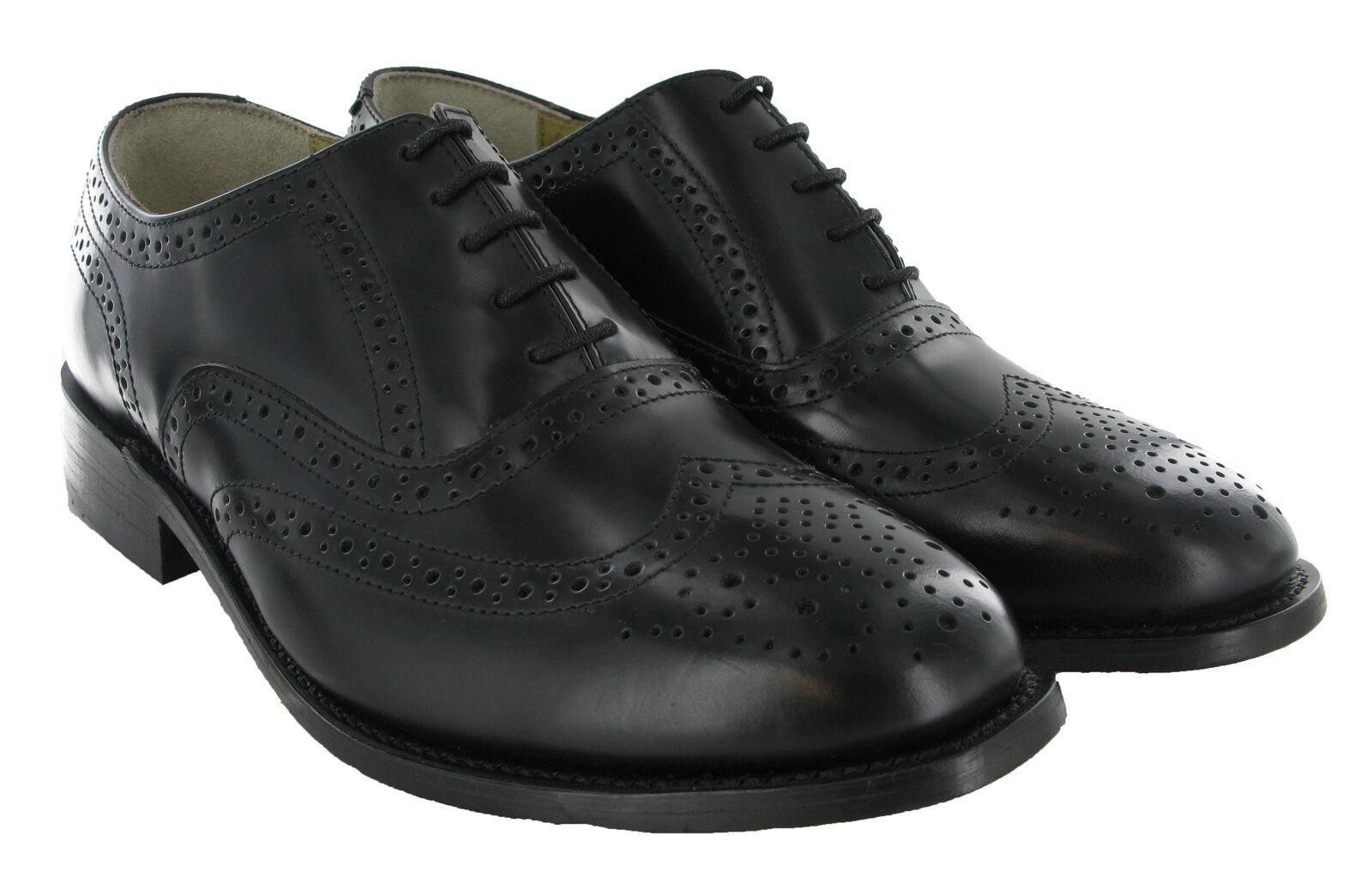 a25e1ea8336a Kensington Wing Cap Brogue Oxford Herren Leder Goodyear Rahmengenähte  Schuhe UK6-14