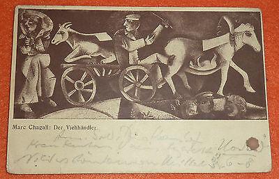 Marc Chagall Der Viehh�ndler K�nstlerkarte Zeitschrift Der Sturm Feldpost 1914