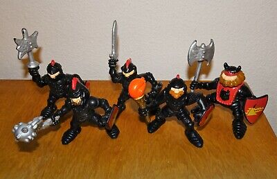 Fisher Price Great Adventures Black Knights Lot of 5 Figures