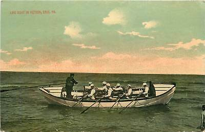 Pennsylvania, PA, Erie, Life Boat in Action 1910's Postcard
