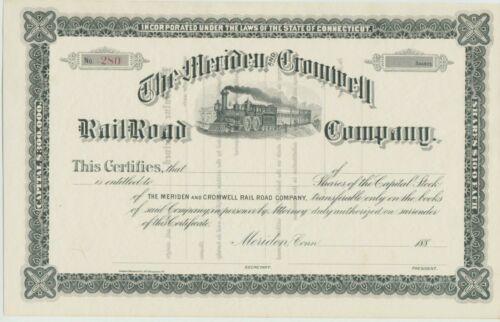 Meriden & Cromwell Railroad Company Stock Certificate Connecticut