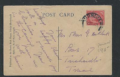 BASUTOLAND (P0512B) 1923  FORERUNNER SOUTH AFRICA KGV 1D PPC FROM MORIJA