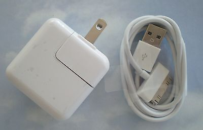 ONE SET - 12 Watt 2.4 AMP Wall Charger for iPad 2,3,4, or 5 USB and sync CABLE