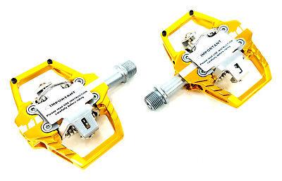 HT Components T1 Enduro Race Mountain Bike Pedals - Gold, Cl
