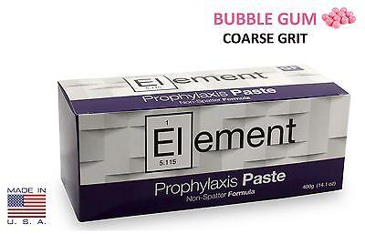 Element Prophy Paste Cups Bubble Gum Coarse 200box Dental Nonsplatter Flouride