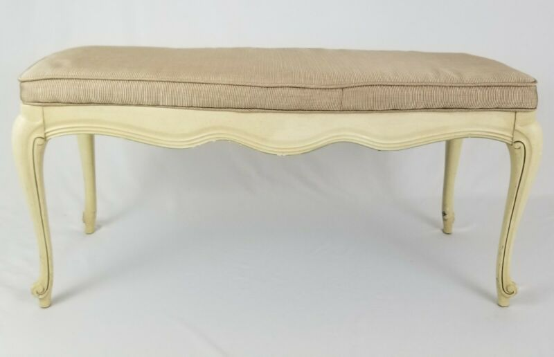 Vintage French Provincial Bedside Window Bench Boudoir Hollywood Regency