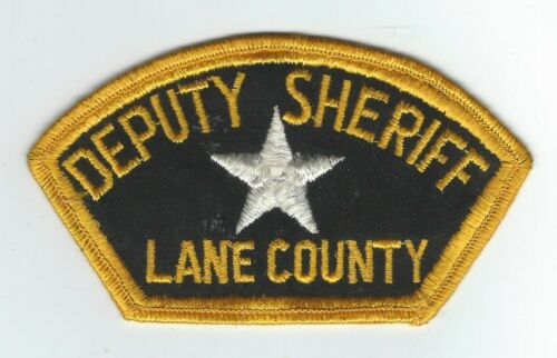 VINTAGE LANE COUNTY, OREGON DEPUTY SHERIFF (CHEESE CLOTH BACK) patch