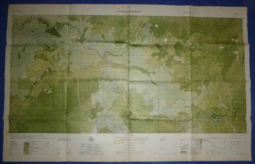 6531 iii N - MAP - Kiem Duc Combat Base - Vo Dat - Recon Trail 335 - Vietnam War