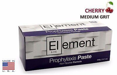 Element Prophy Paste Cups Cherry Medium 200box Dental Non-splatter Wflouride