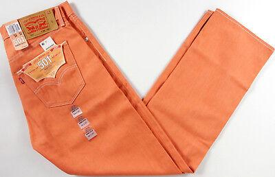 Levi's Original 501 Shrink to Fit Jeans- NEW- Orange classic Levis STF RAW (Classic Raw Denim)