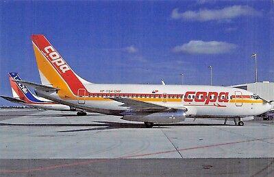 Copa Boieng 737 230C C N 20253 Hp 1134 Cmp Sept 1990  Airplane Postcard