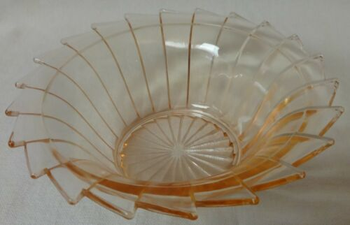 "Sierra Pink Bowl Cereal 5.5"" Set of 3 Jeannette Glass Company"