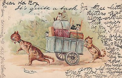 1904 Tucks a/s LOUIS WAIN CAT