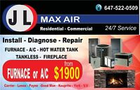JL MAX AIR 24/7 - free estimate - service call from $49.99