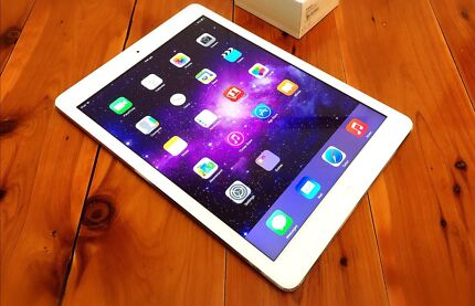 100% Unlock Silver Apple iPad Air Great Condition+Upgrade iOS+Charger