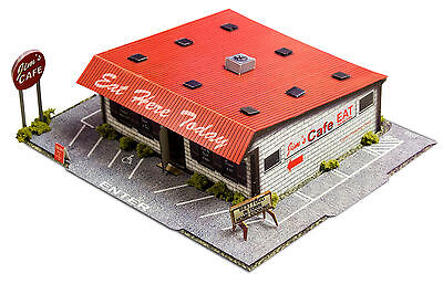1:48 Scale O Gauge Diner Photo Real Scale Building Kits Diorama