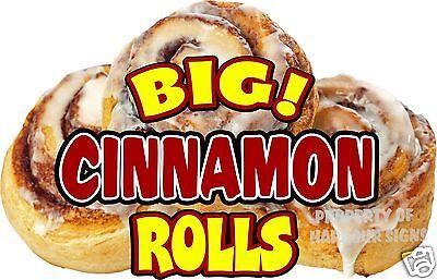 Big Cinnamon Rolls Decal 14 Pastry Bakery Concession Food Truck Vinyl Sticker
