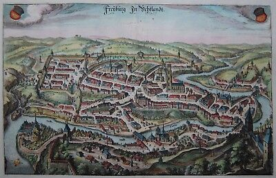 Freyburg in Üchtlandt - Fribourg - Merian - Originaler Kupferstich von 1641
