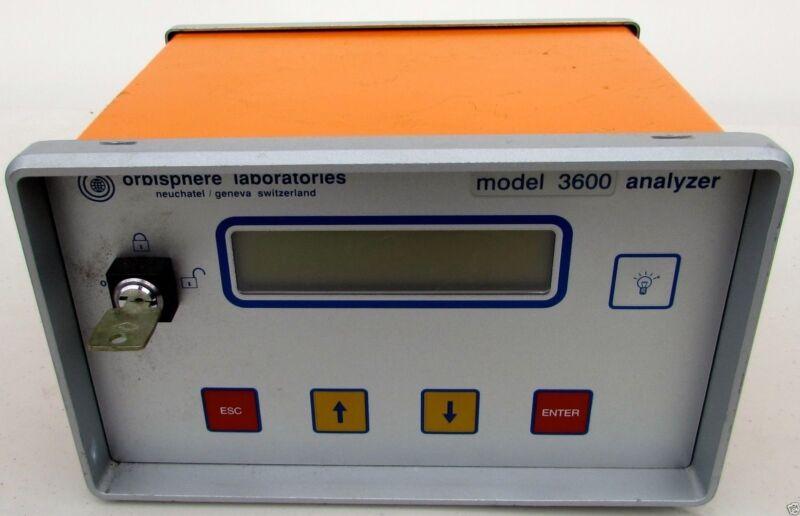 Orbisphere Labratories 3600/120.E SwissOxygen Analyzer Ozone Hydrogen 3600