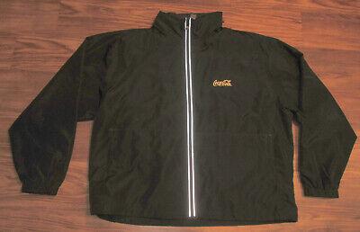 Coca-Cola Coke Adult Lightweight Full-Zip Jacket with Hood, Black, Size XL, EUC