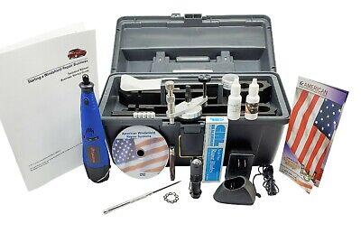 Windshield Repair Kit Auto Glass Windscreen Stone Chip System free UV LED LIGHT