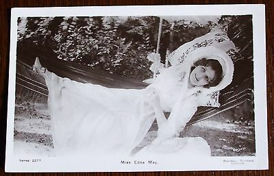 Old real photo stage star Postcard - Edna May