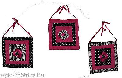 Купить Sisi BB-HPZ13 - Baby Boutique - Hot Pink Zebra - 13 pcs Crib Bedding Set